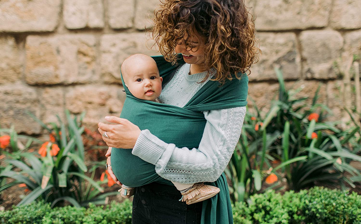 Boba Wrap Baby Carrier Peach Sorbet Original Stretchy Infant Sling Perfect for Newborn Babies and Children up to 35 lbs
