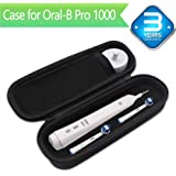 Oral B Toothbrush Hard Travel Case Carrying Bag, Fits for Oral-B Pro 1000, Pro 2000, Pro 3000, Pro 1500 Electric Toothbrush, Mesh Pocket for Accessories and Soft Lining inside the Case for Protection