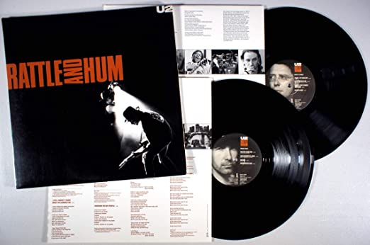Vintage U2 Rattle And Hum 1988 Rock N Roll Band Sticker +