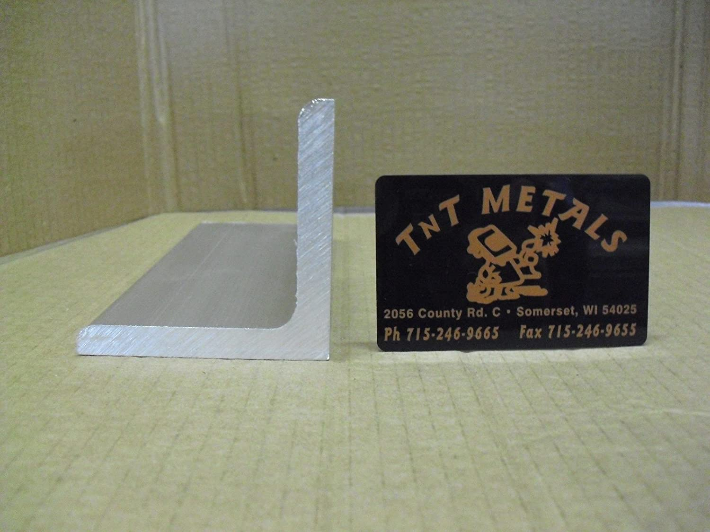 "6063 T52 Aluminum Angle 1/""X 3/""X 36/"" Long 1//8/"" Thick"
