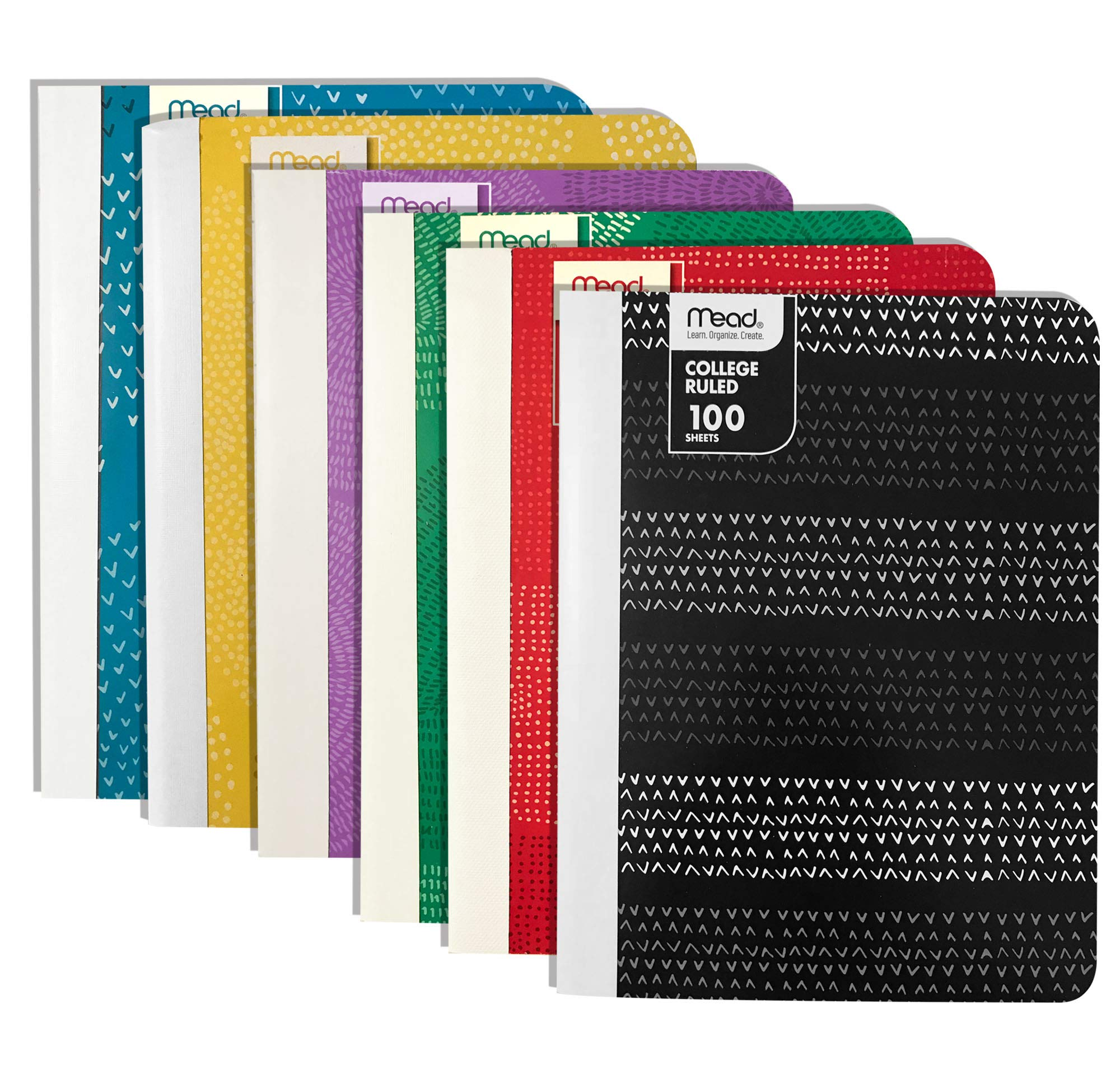 Mead Composition Notebook, 100 sheets, 9-3/4 x 7-1/2 inches (Dots & Lines, College Ruled)