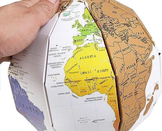 WIVION Mapa para Rascar Scratch Map,Mapa del Mundo De Pared para Rascar Registrar Tus Viajes,Adhesivos De Pared para Habitación Infantil, Diseño De Educativo,02: Amazon.es: Deportes y aire libre