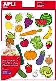 APLI Pochette 3 feuilles gommettes Les fruits et légumes
