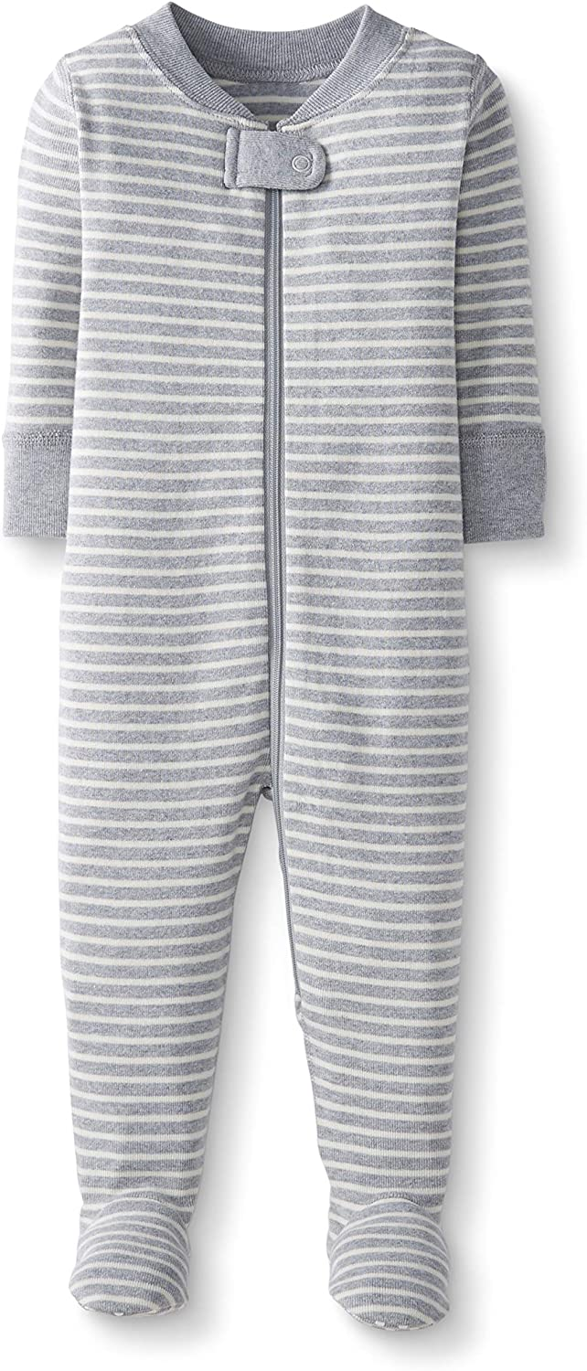 Moon and Back by Hanna Andersson One Piece Footed Pajama Mixte b/éb/é