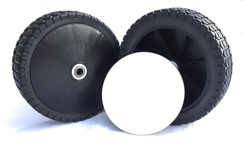 2 ruedas de repuesto para cortacésped Cortacésped ruedas 200 mm x ...