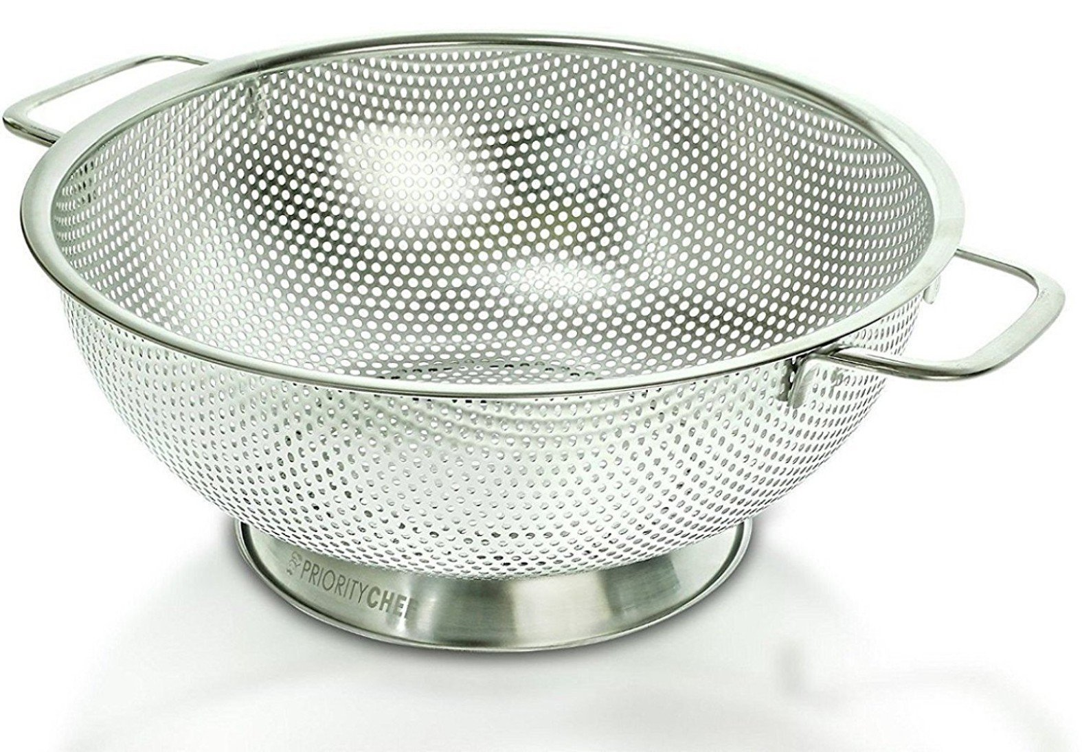 PriorityChef Colander, Stainless Steel 3 Qrt Kitchen Strainer With Large Stable Base by Priority Chef (Image #2)