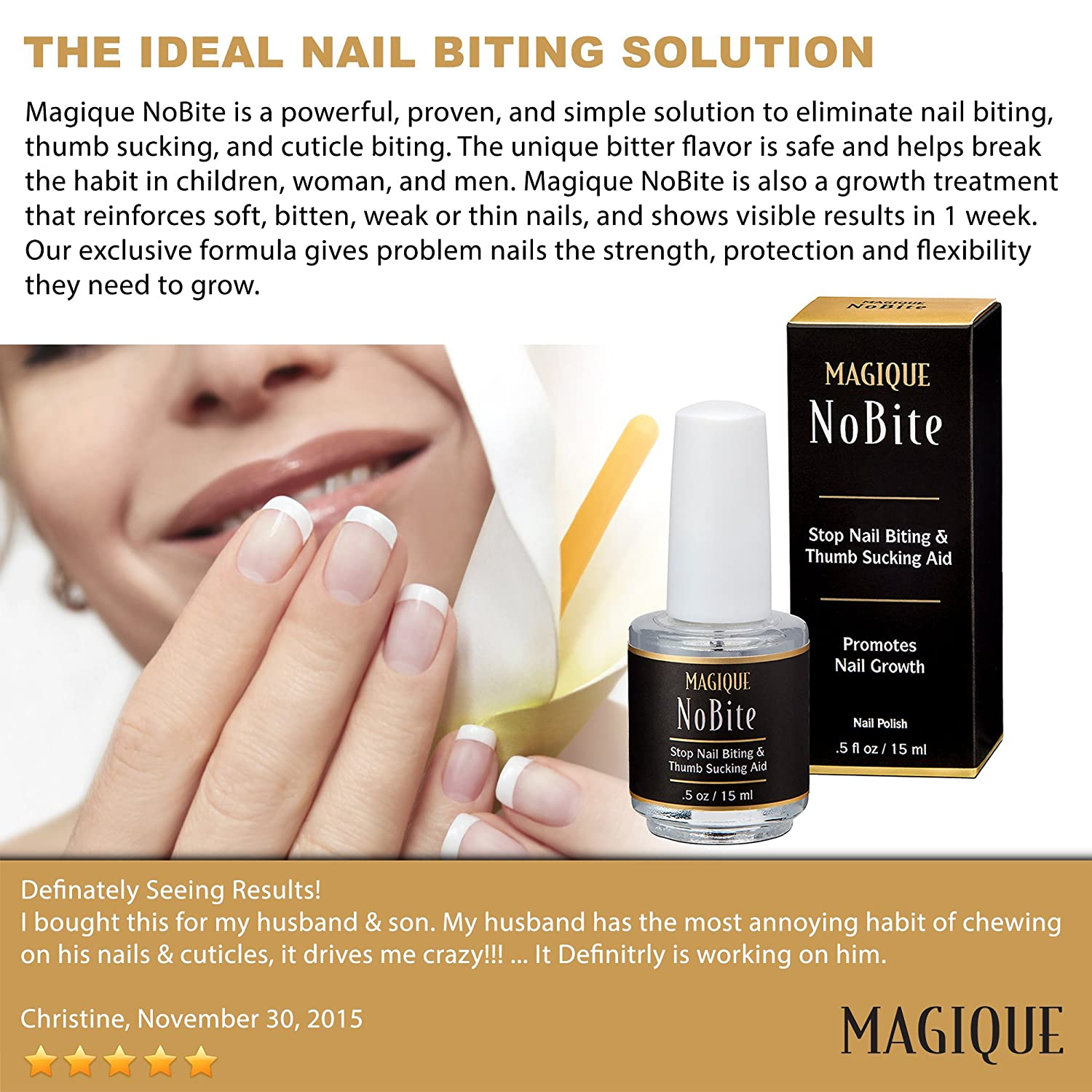 Amazon.com : Stop Nail Biting, Stop Thumb Sucking Treatment for Kids ...