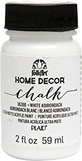 product image for FolkArt 36300 Home Decor Chalk Furniture & Craft Paint in Assorted Colors, 2 ounce, White Adirondack