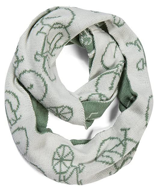 Amazon.com: AOLOSHOW Winter Double Knit Bicycle Pattern Infinity ...