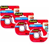 Scotch Removable Poster Tape, 3/4 x 150 Inches, 3 Pack