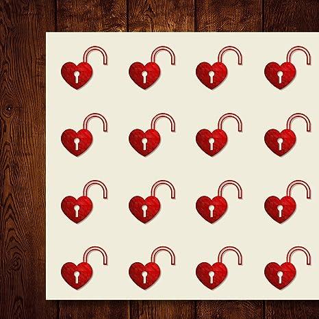 Love Unlock 570336 - Pegatinas decorativas con forma de corazón ...