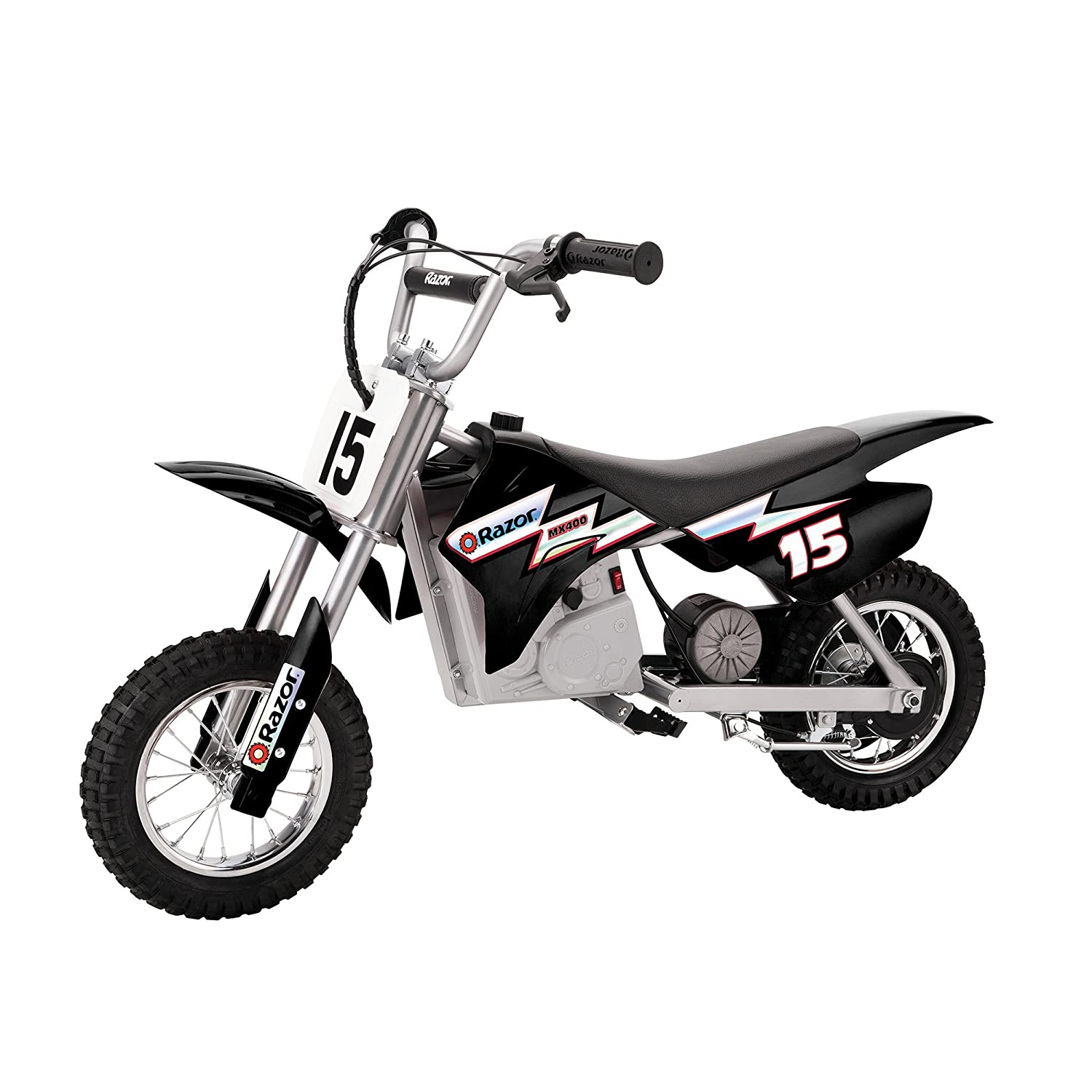 Razor MX400 Dirt Rocket 24V Electric Toy Motocross Motorcycle Dirt Bike, Black