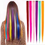 Synthetic Hair Wigs 1 Sets Clip-on 6 Colors