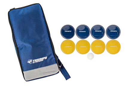 Triumph All Pro 100mm Bocce Set Includes Eight Bocce Balls, One 50mm Jack, and