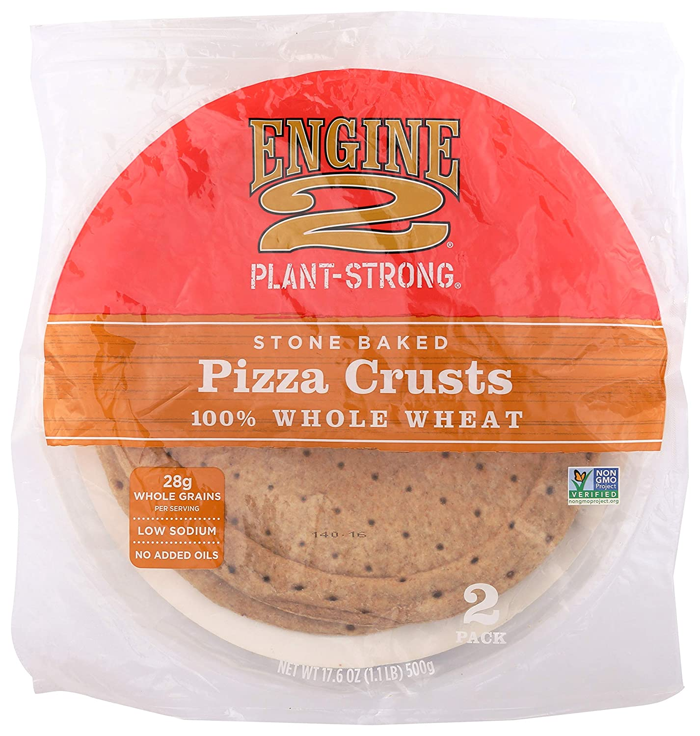 Engine 2, Stone Baked Pizza Crusts, 2 ct, (Frozen)