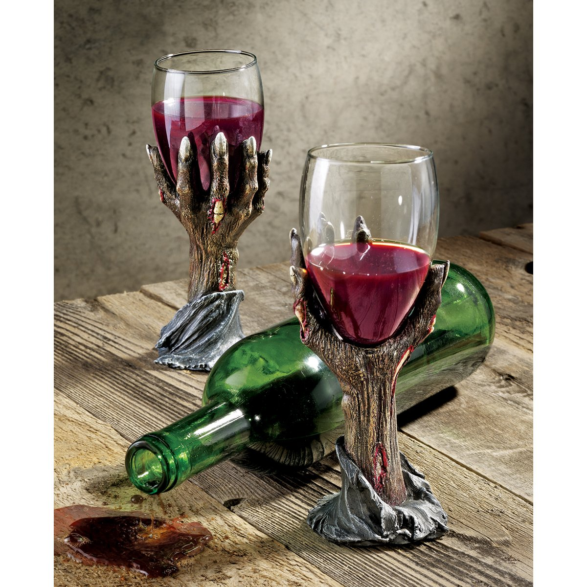 Wedding Goblets   Amazon Com Design Toscano Toast Of The Zombie Sculptural Goblet
