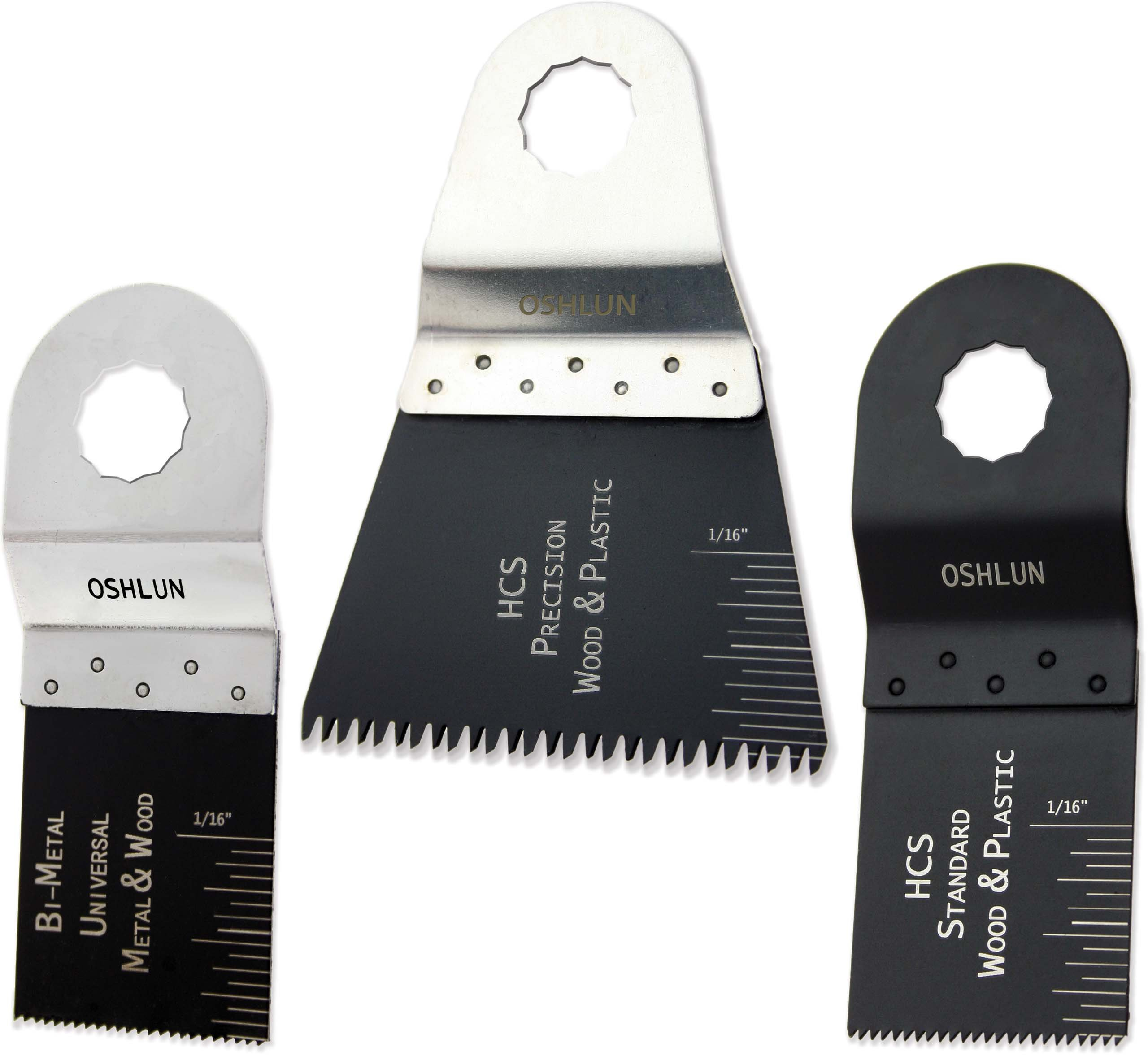 Oshlun MMR-9903 Oscillating Tool Blade Combo for Rockwell SoniCrafter, 3-Pack