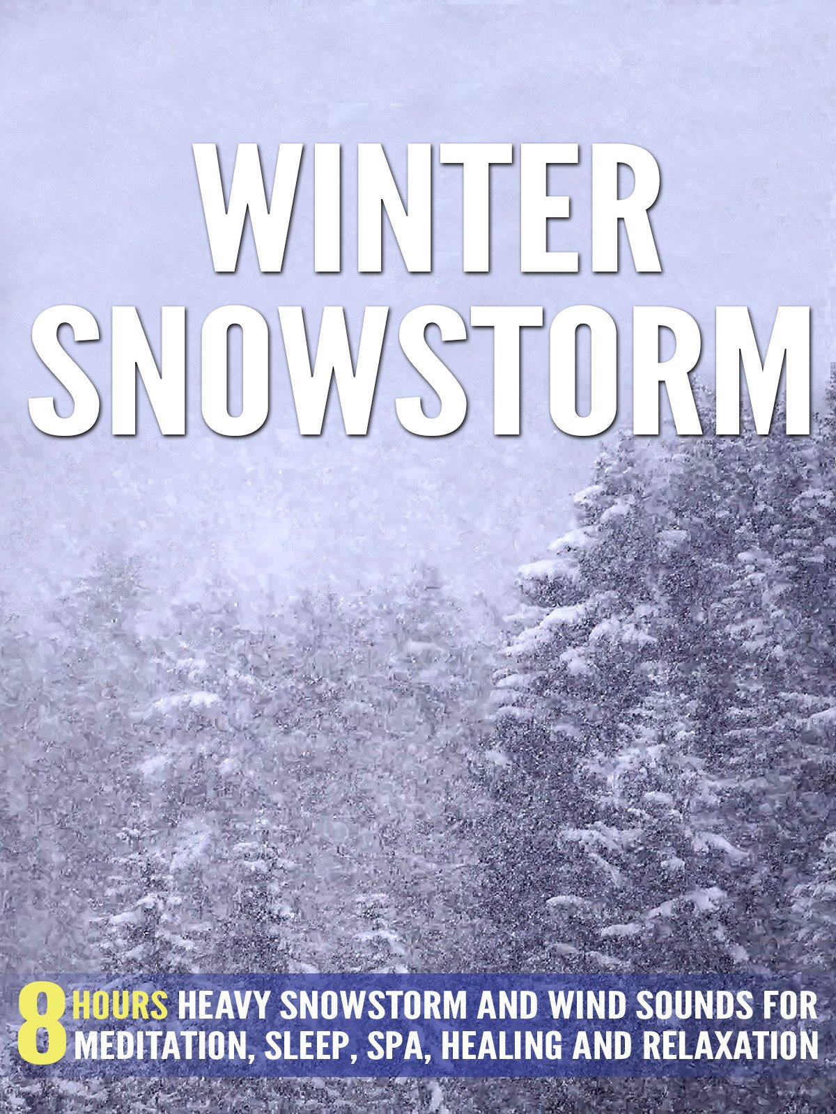 Amazon com: Winter Snowstorm: 8 Hours Heavy Snowstorm and