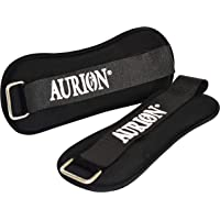 Aurion Wrist/Ankle Weights Pro Quality Adjustable Leg Weights on Ankles/Wirst for Walking + Running Or Hands for Strength Training Exercise for Men and Women Guarantee