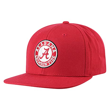 sports shoes 9171c 03a02 Top of the World Alabama Crimson Tide Men s Flat Brim Hat Icon, Crimson, One