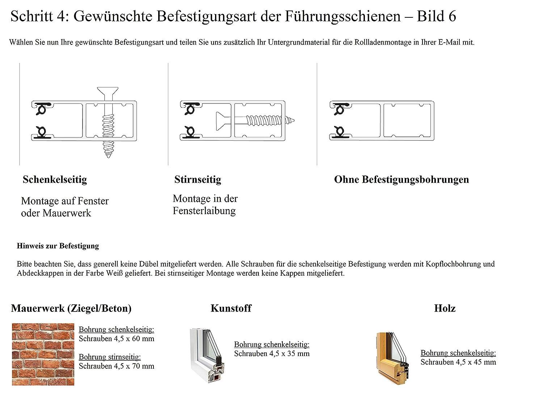 1201-1400 mm x 1201-1400 mm PVC-Kunststoff-Profil 37 mm jarolift Basic Vorbaurollladen Rolladen auf Ma/ß eckiger Rollladenkasten Gurtzug B x H