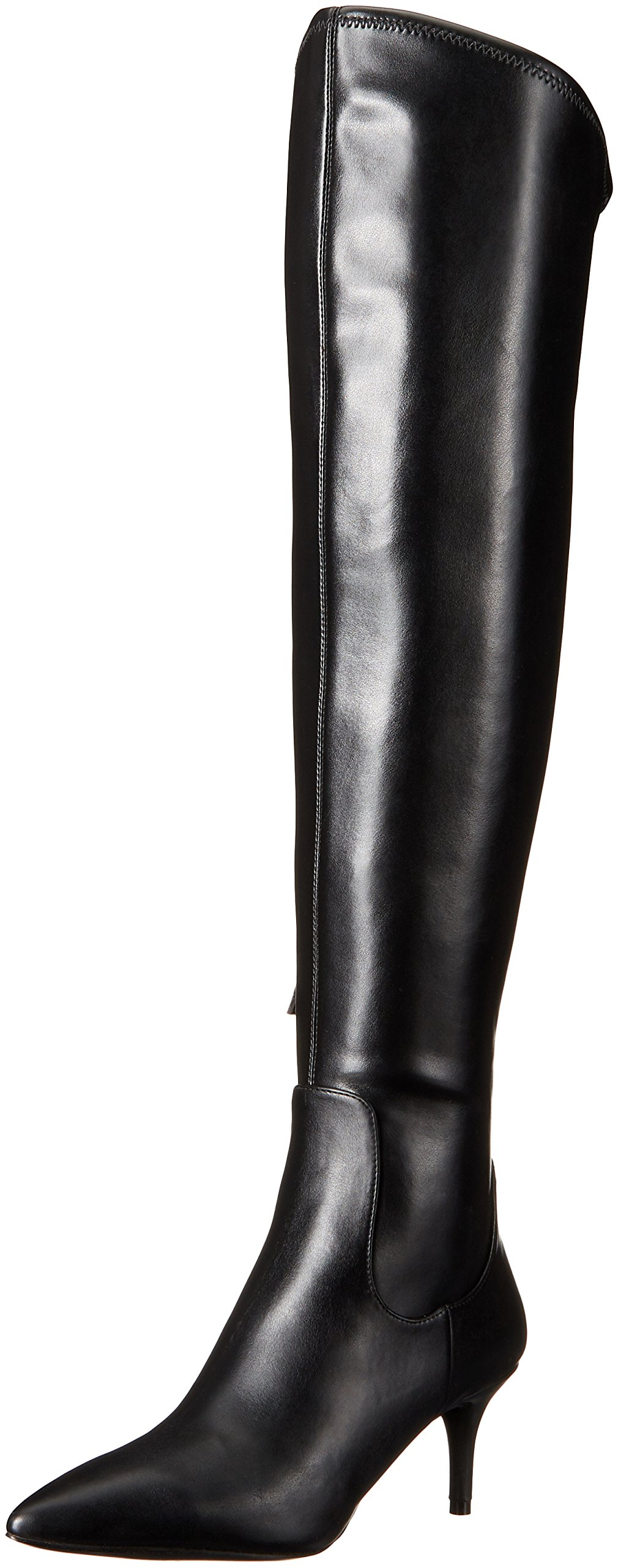 Nine West Women's Marcia Stretch Knee-High Boot, Black, 9.5 M US