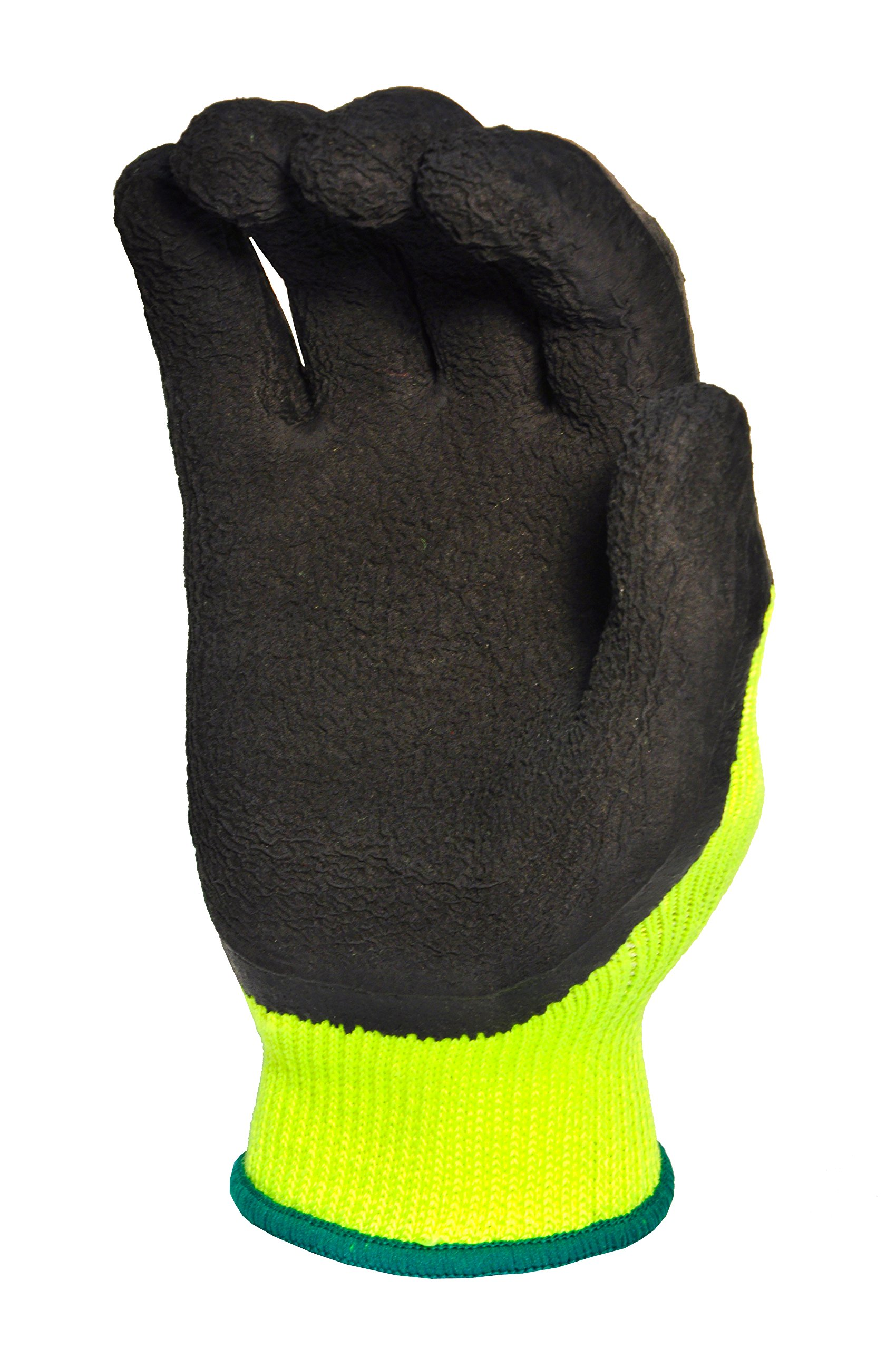 G & F 1516XL-3 Premium High Visibility Work Gloves for General Purpose, MicroFoam Double Textured Latex Coated Work Gloves, Garden Gloves, Men and Women Work Gloves, XLarge, 3 Pair Pack by G & F Products (Image #3)