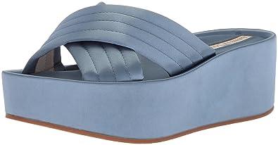 81c980b7b4 Kenneth Cole New York Women's Damariss Platform X-Band Slip On Sandal  Slide, Blue