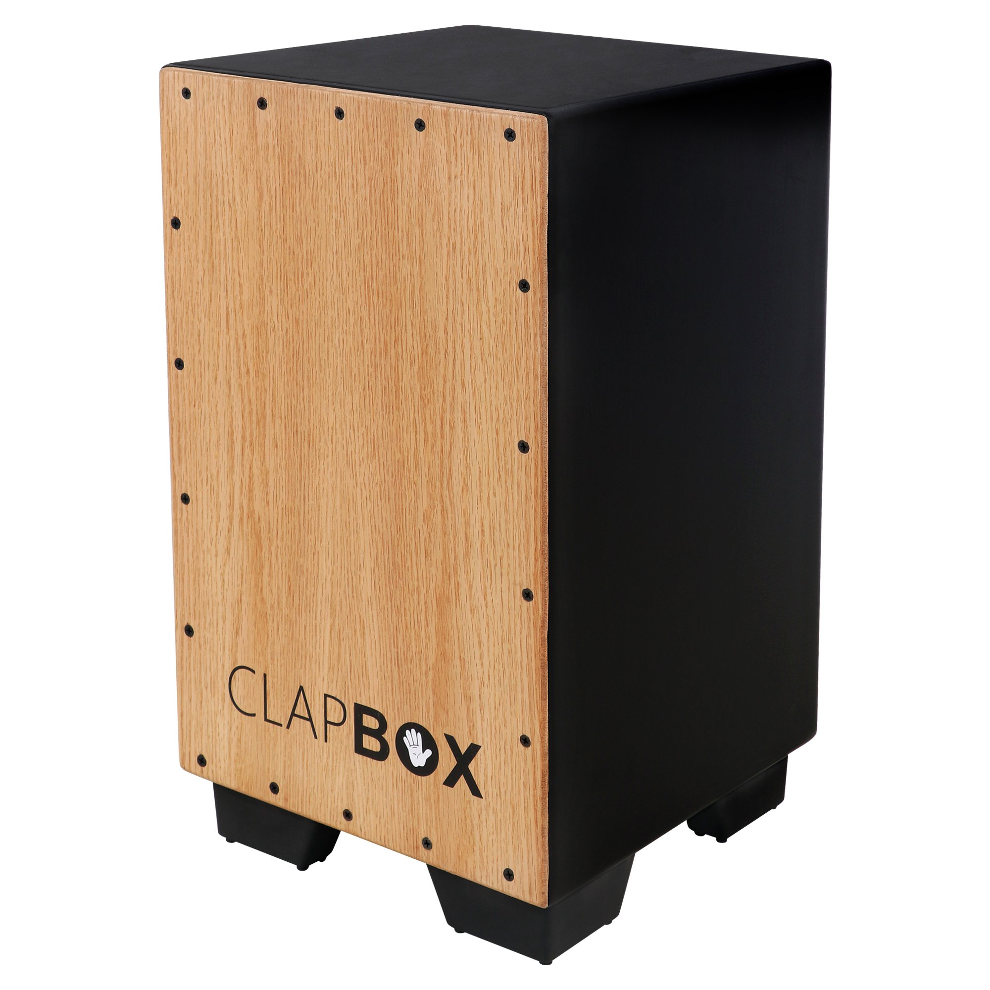 Clapbox Cajon CB11 -Black, Oak Wood (H:50 W:30 L:30) - 3 Internal Snares product image