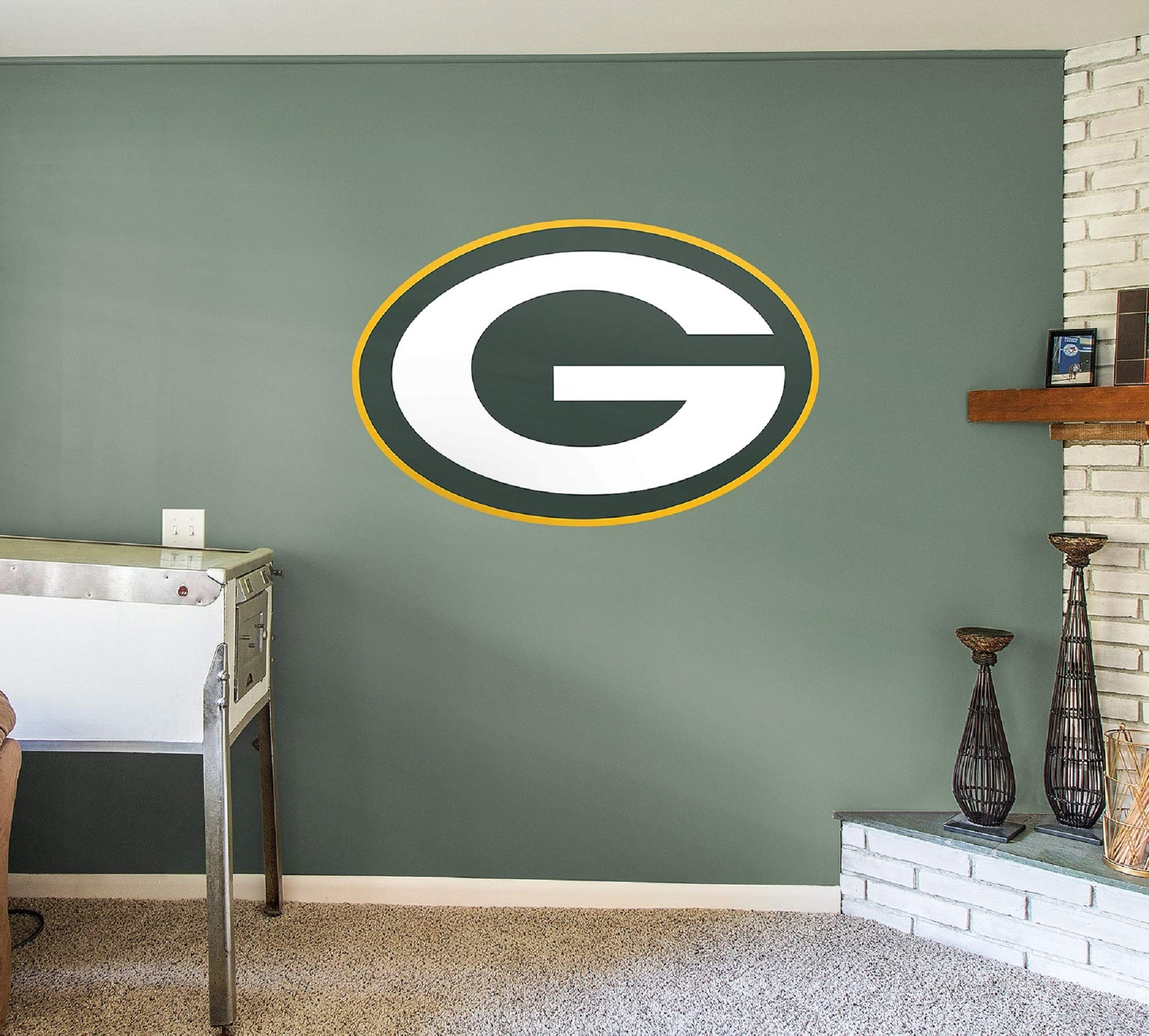 Fathead NFL Green Bay Packers Officially Licensed Logo Removable Wall Decal, Multicolor, Giant - 14-14014 by FATHEAD