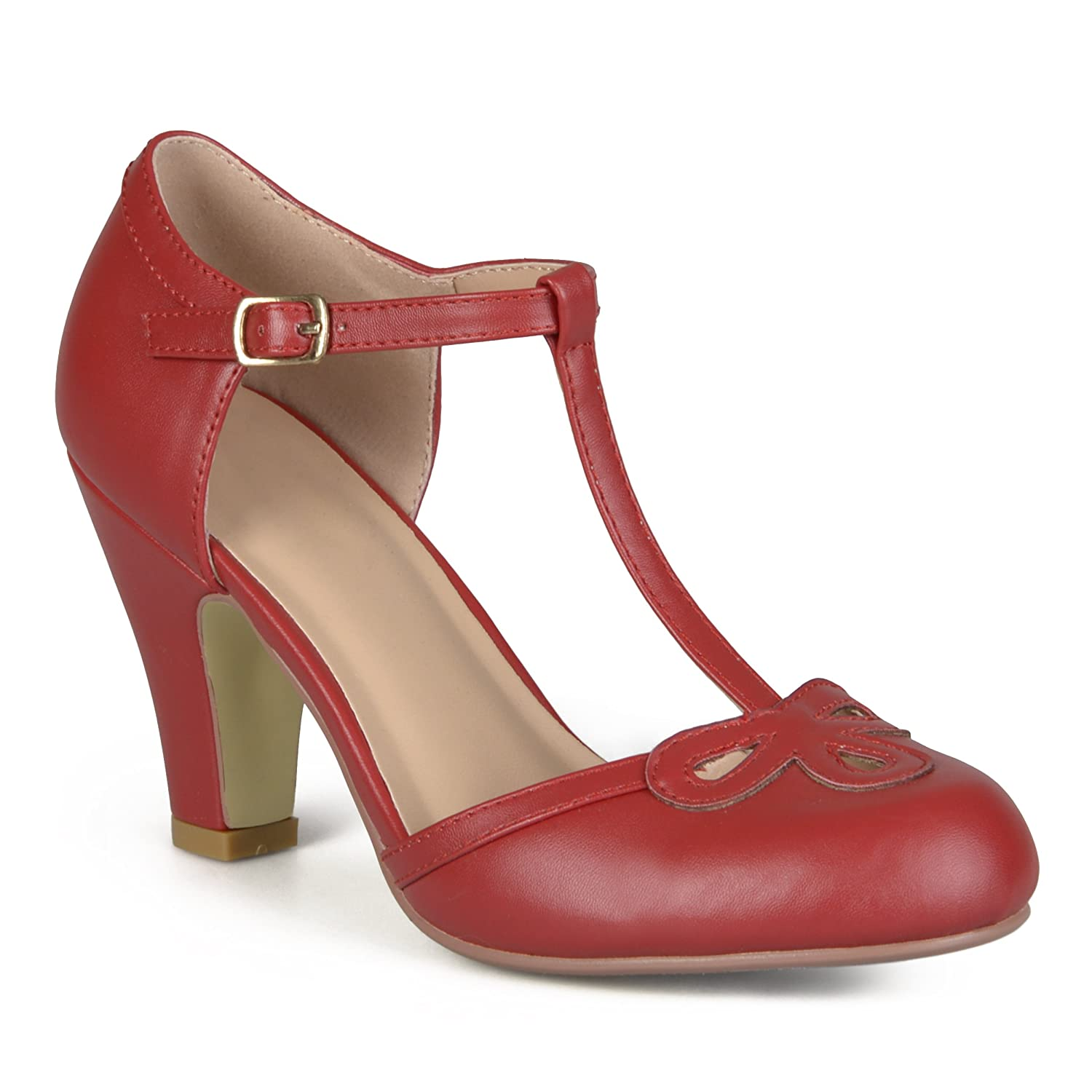 Vintage Style Shoes, Vintage Inspired Shoes Brinley Co Womens Patsie Pump $39.99 AT vintagedancer.com