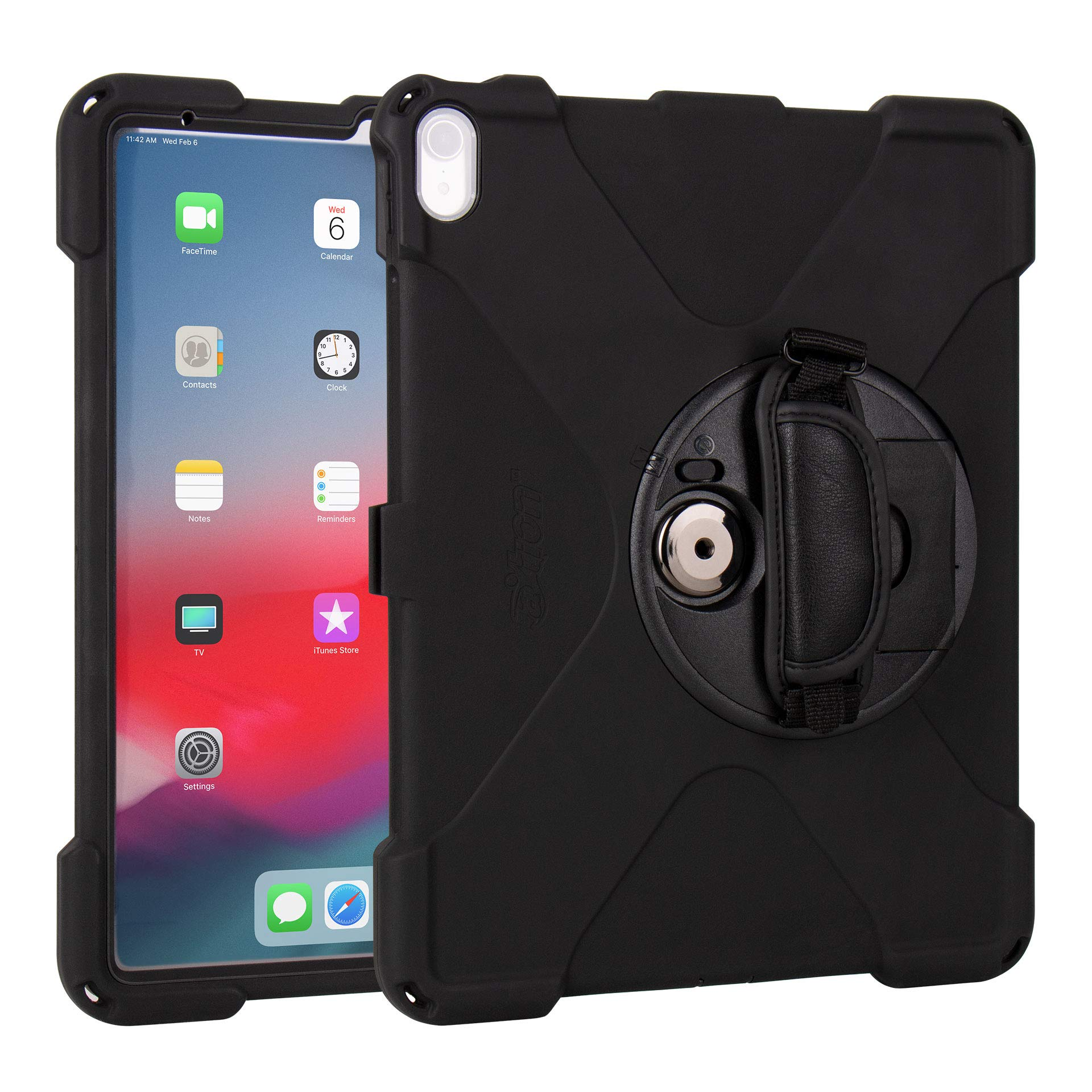 The Joy Factory aXtion Bold MP Water-Resistant Rugged Shockproof Case for iPad Pro 12.9'' [3rd Gen] Built-in Screen Protector, Hand Strap, Kickstand (CWA412)