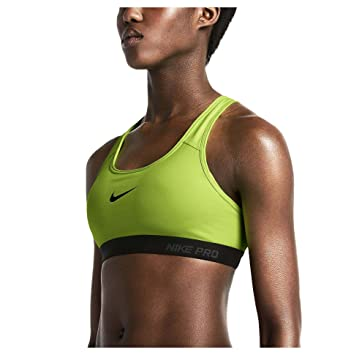 b171a17705470 Image Unavailable. Image not available for. Color  Nike Womens Pro Classic  Padded Sports Bra - Small - Volt Black