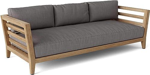 Anderson Teak DS-833 Cordoba 3-Seater Bench Outdoor Sofa, Golden Honey Teak