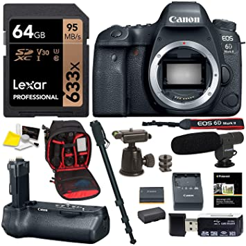 Amazon.com: Cámara réflex digital Canon EOS 6D Mark II ...