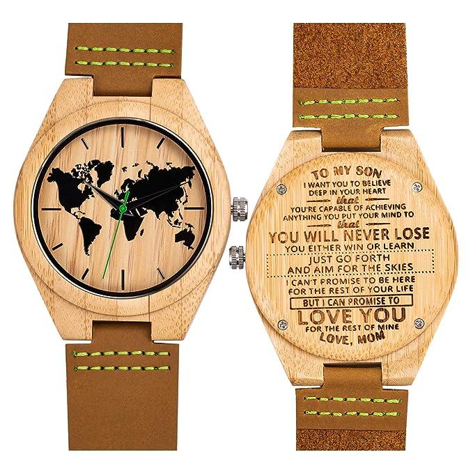 Relojes Madera Bambú Personalizado