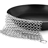 Stainless-Steel Chainmail Scrubber for Cast-iron Cleaner, Skillet, Pan, Griddle and Wok by Utopia Kitchen