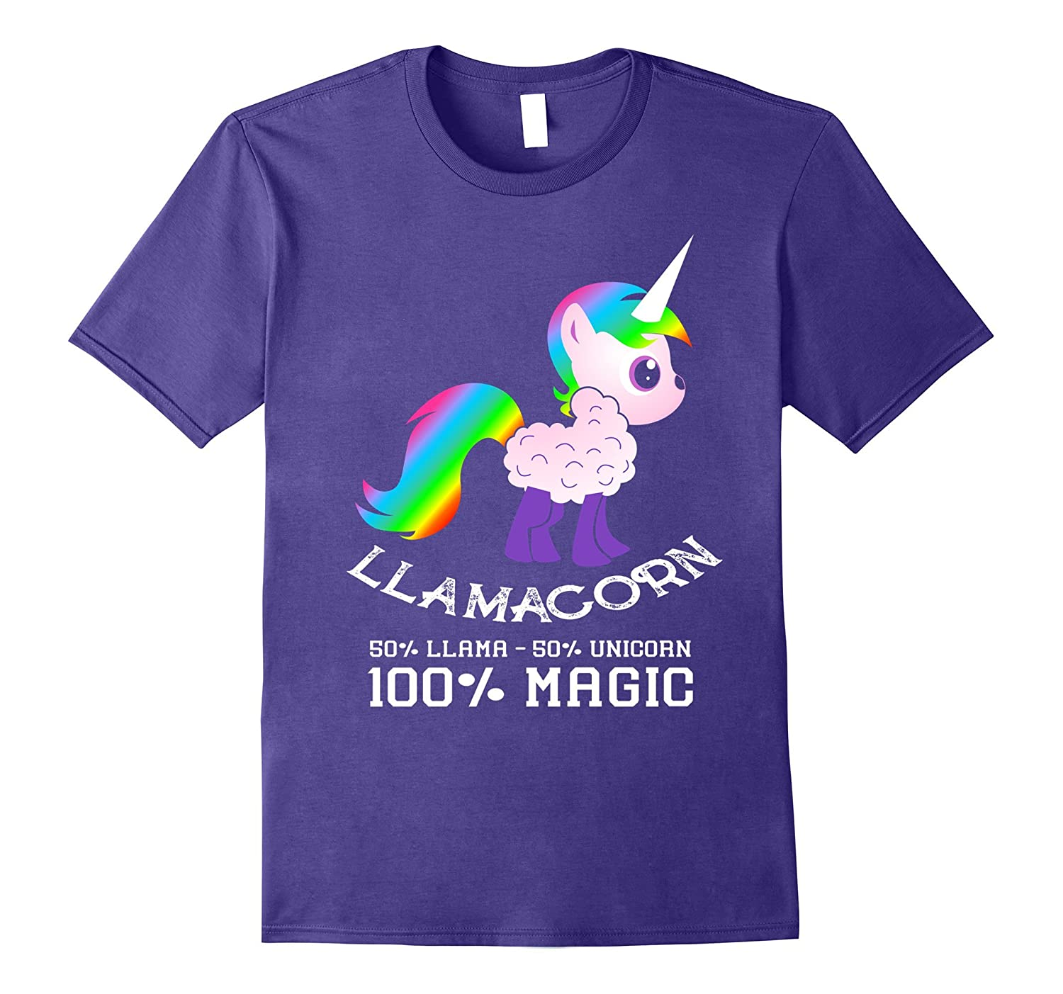 100% Llamacorn Shirt Funny Cute Llama Unicorn Shirt Gifts-TH