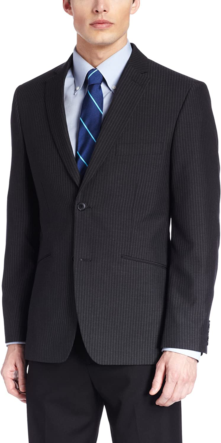 Haggar Men's Stripe Slim-Fit Suit Separate Jacket