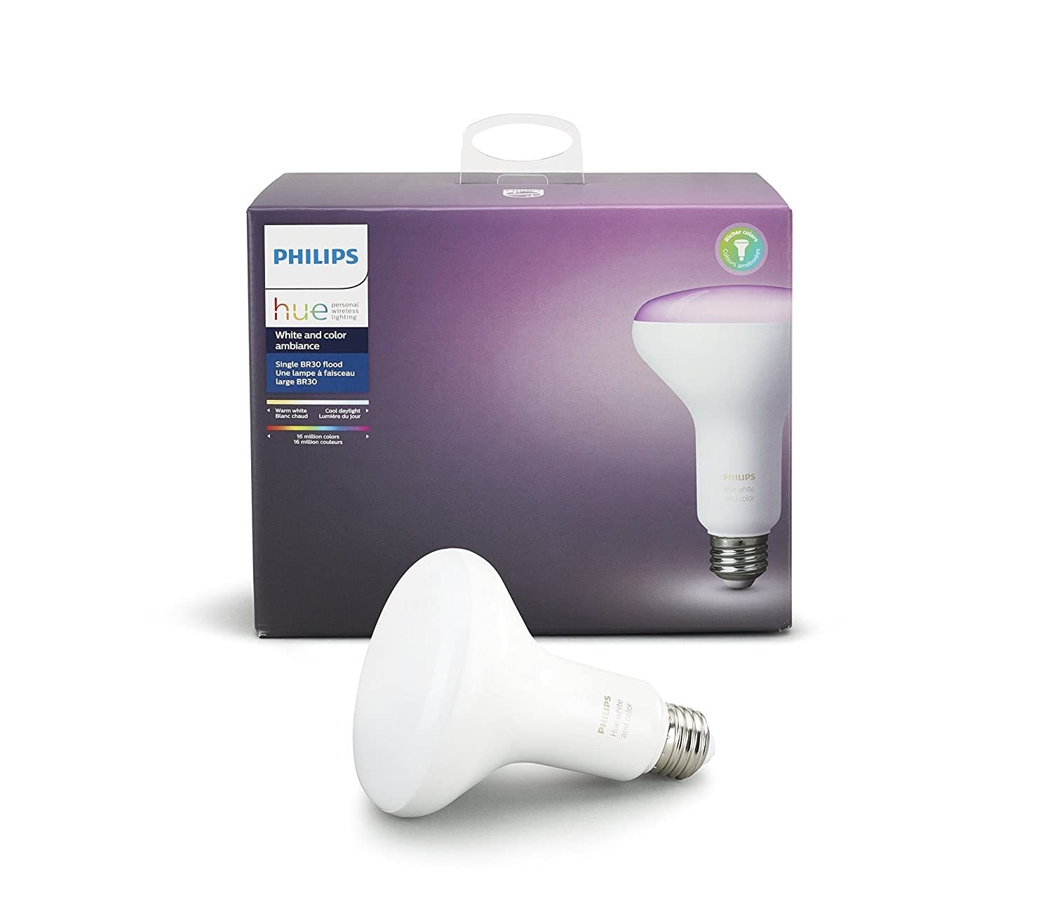 philips hue white and color ambiance br30 60w equivalent dimmable led smart 689853947092 ebay. Black Bedroom Furniture Sets. Home Design Ideas