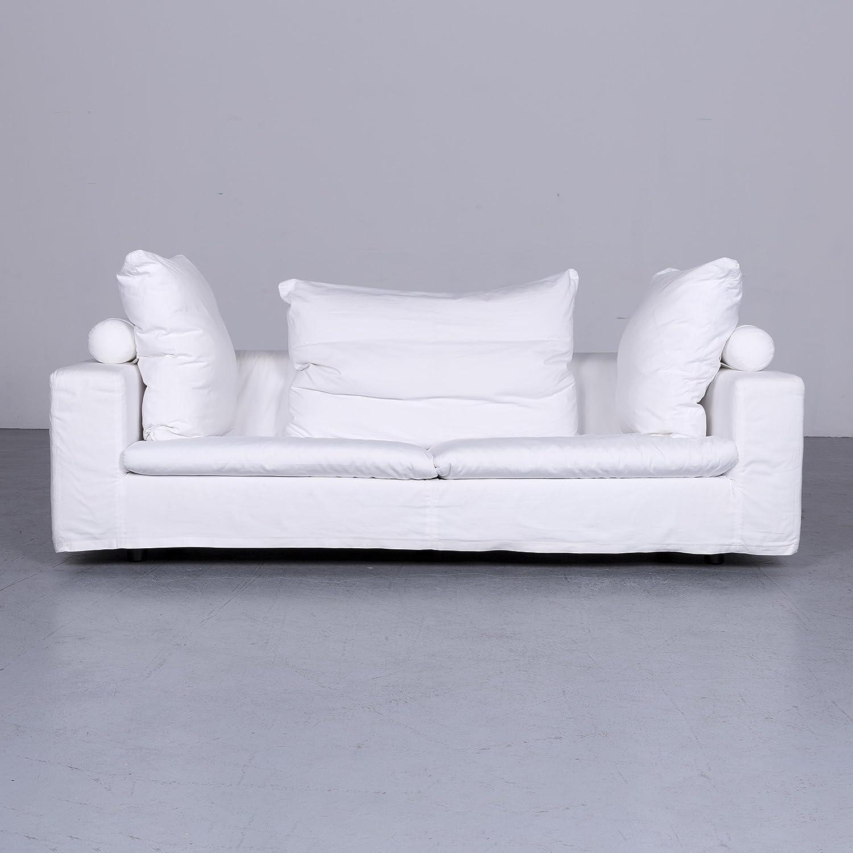 Flexform Poggiolungo Designer Stoff Sofa Weiss Couch 6325 Sanaa