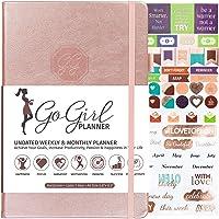 GoGirl Planificador – Planificador de objetivos y organizador para mujeres – Sin fecha – Inicio en cualquier momento, dura 1 año, 5.3 x 7.7 pulgadas, Rose Gold (Undated), A5 (5.7'' x 8.5'')