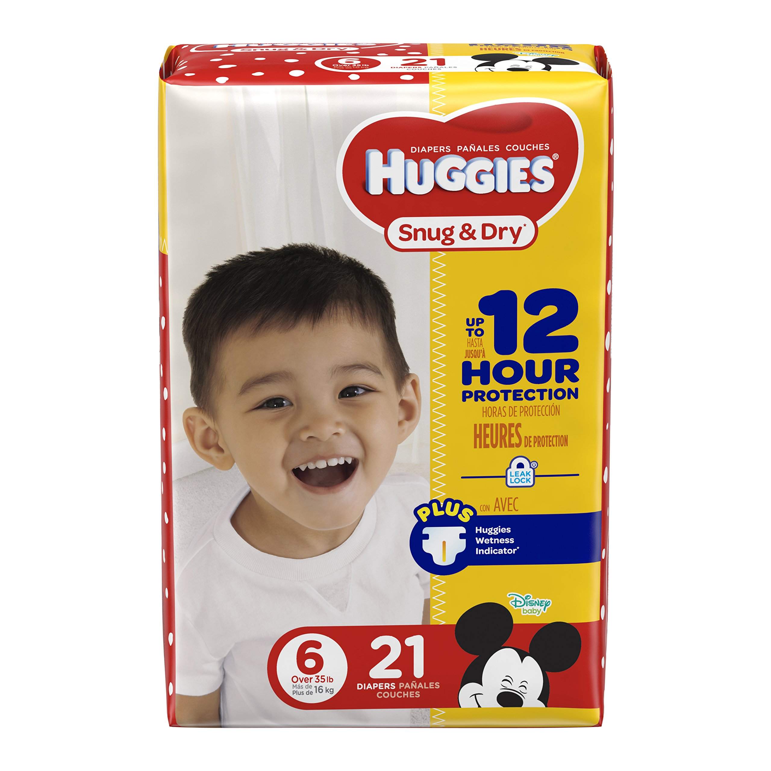 HUGGIES Snug & Dry Diapers, Size 6, 21 Count, JUMBO (Packaging May Vary)