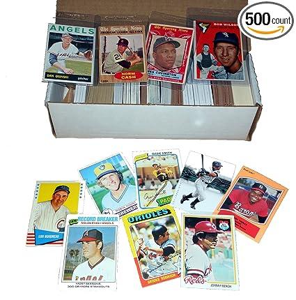 75 Baseball Card Collection 500 Cards Incl 1950s 60s 70s 80s Toppsfleerbowmanupper Deckdonruss