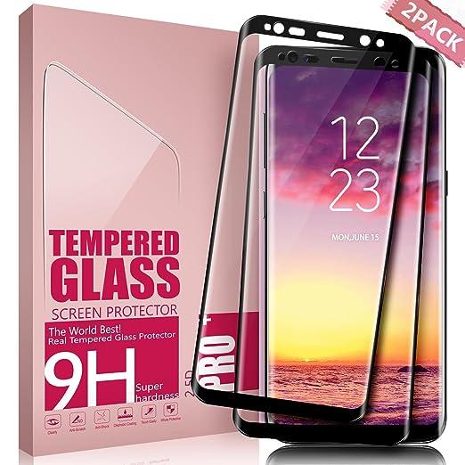 210 opinioni per Vetro Temperato Galaxy S8 Plus, Aonsen [2 pack] 3D Copertura Completa Pellicola