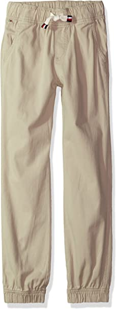 Tommy Hilfiger Boys Adaptive Jogger Pants with Zip Outside Seams