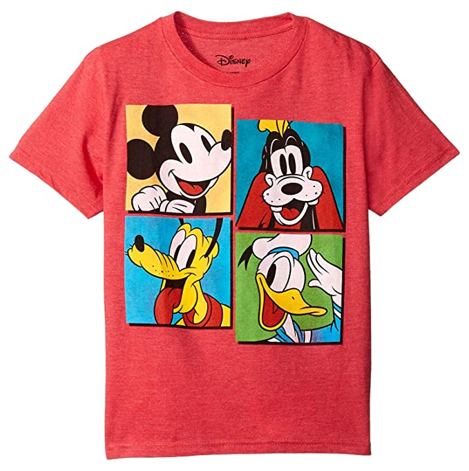 6f6d9c8d998 Disney T Shirt Character Panel Mickey Mouse Pluto Goofy Donald Duck Boys Tee  4