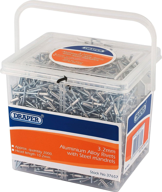 Draper 37659 Tub of Blind Rivets  800 Pieces Set of 800
