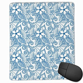 Yoga Indian Henna Design Brilliant Blue Mouse Pad Non Slip ...
