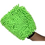 SOBBY Microfibre Wash and Dust Chenille Mitt Cleaning Gloves (1 PC Single Sided, Extra Large, Big Chenille Mitt Glove)
